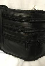 SGI LEATHERGOODS 014 BLACK WAIST BAG