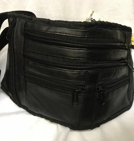 SGI LEATHERGOODS BLACK WAIST BAG