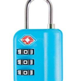 AUSTIN HOUSE BLUE 3 dial combination padlock