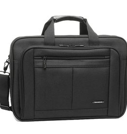 SAMSONITE BLACK LEATHER BRIEFCASE