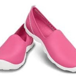 CROCS BUSY DAY SKIMMER W9 PINK WHITE