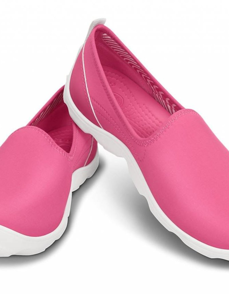 CROCS BUSY DAY SKIMMER W8 PINK WHITE