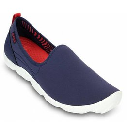 7ecd16fb63d71b CROCS BUSYDAY SKIMMER W6 NAVY WHITE