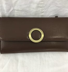 HOLIDAY GROUP BROWN LADIES LEATHER WALLET