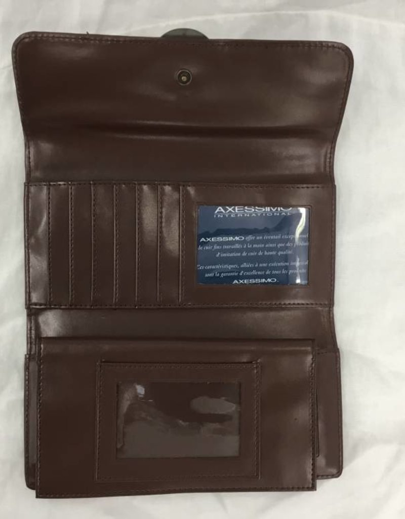 HOLIDAY GROUP 37359701 BROWN LADIES LEATHER WALLET
