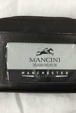 MANCINI LEATHER 2010115 RFID ACCORDIAN BROWN # MANCINI