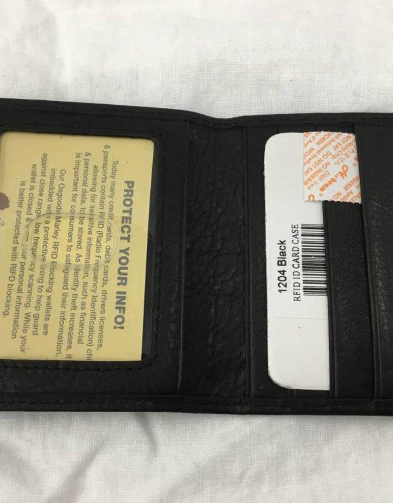OSGOODE MARLEY 1204 RFID BLACK ID CARD CASE