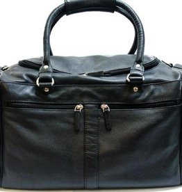 SGI LEATHERGOODS 2013 BLACK LEATHER DUFFLE