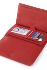OSGOODE MARLEY 1236 RED RFID CHECKBOOK WALLET