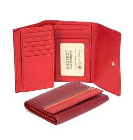 "OSGOODE MARLEY 1404 RFID GARNET  5""FLAP WALLET"