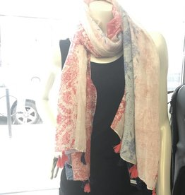 992 SCARF NAVY CORAL