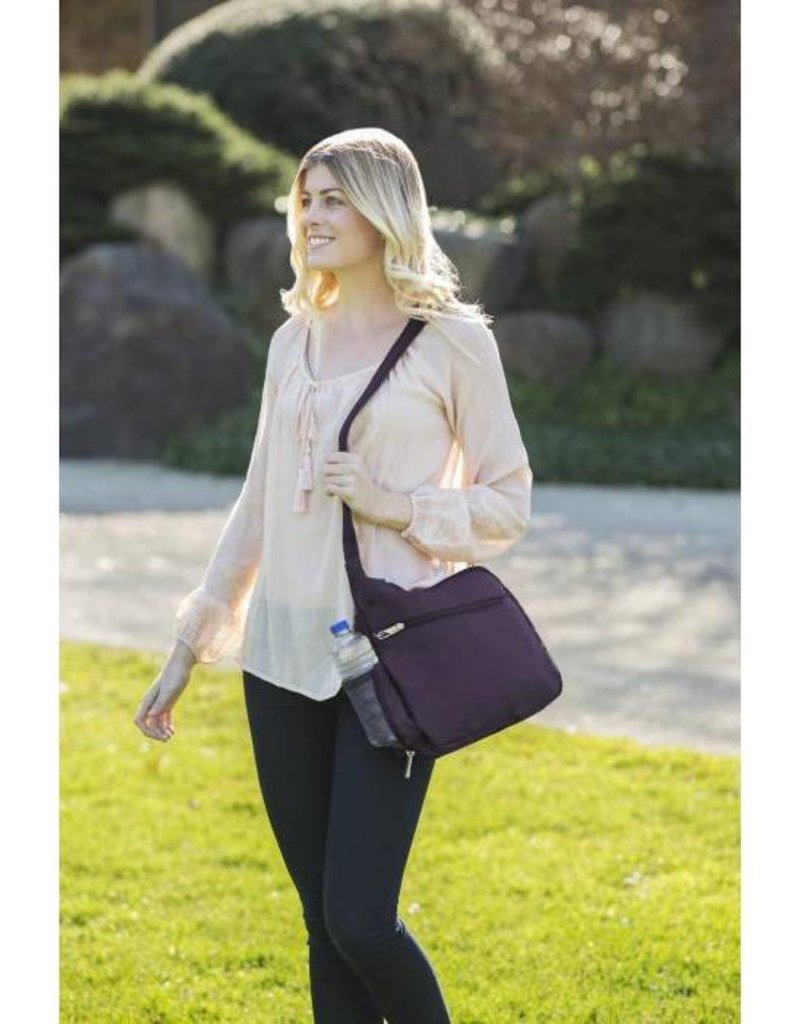 TRAVELON 42942 PURPLE ANTI THEFT CROSSBODY