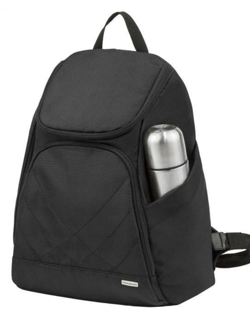 TRAVELON 42310 BLACK ANTI THEFT BACKPACK