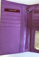 MANCINI LEATHER 52948 RADIANT ORCHID LADIES LEATHER WALLET RFID