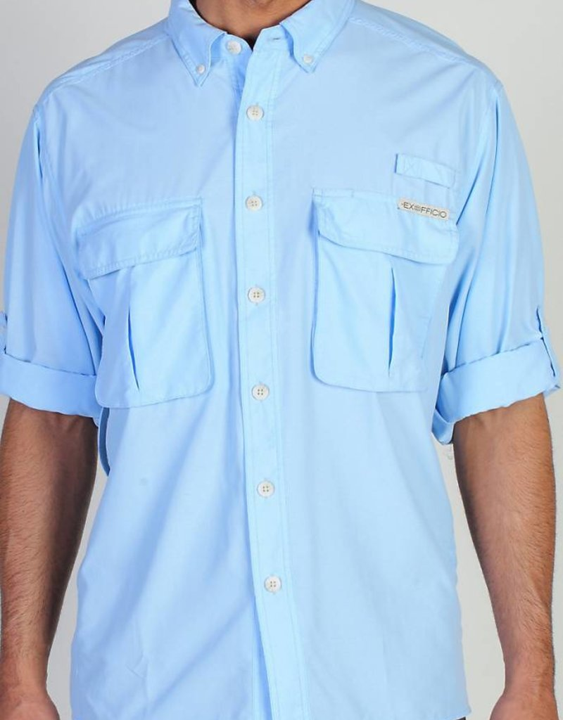 EXOFFICIO 10012035 AIR STRIP MEDIUM LT LAPIS MENS