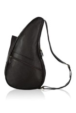 AMERIBAG 5103 BLACK SMALL LEATHER HEALTHY BACK BAG