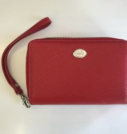 TREND 2 ZIP WRISTLET WALLET RED RFID 1468289  THE TREND