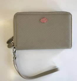 TREND 2 ZIP WRISTLET WALLET TAUPE RFID 1468289 THE TREND