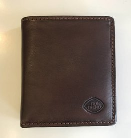 TREND BIFOLD WALLET WITH CHANGE BROWN 917236 THE TREND