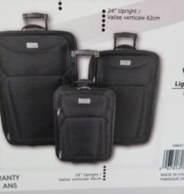 3 PC LUGGAGE SET BLACK