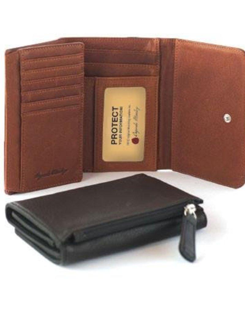 OSGOODE MARLEY 1250 BRANDY RFID SNAP WALLET