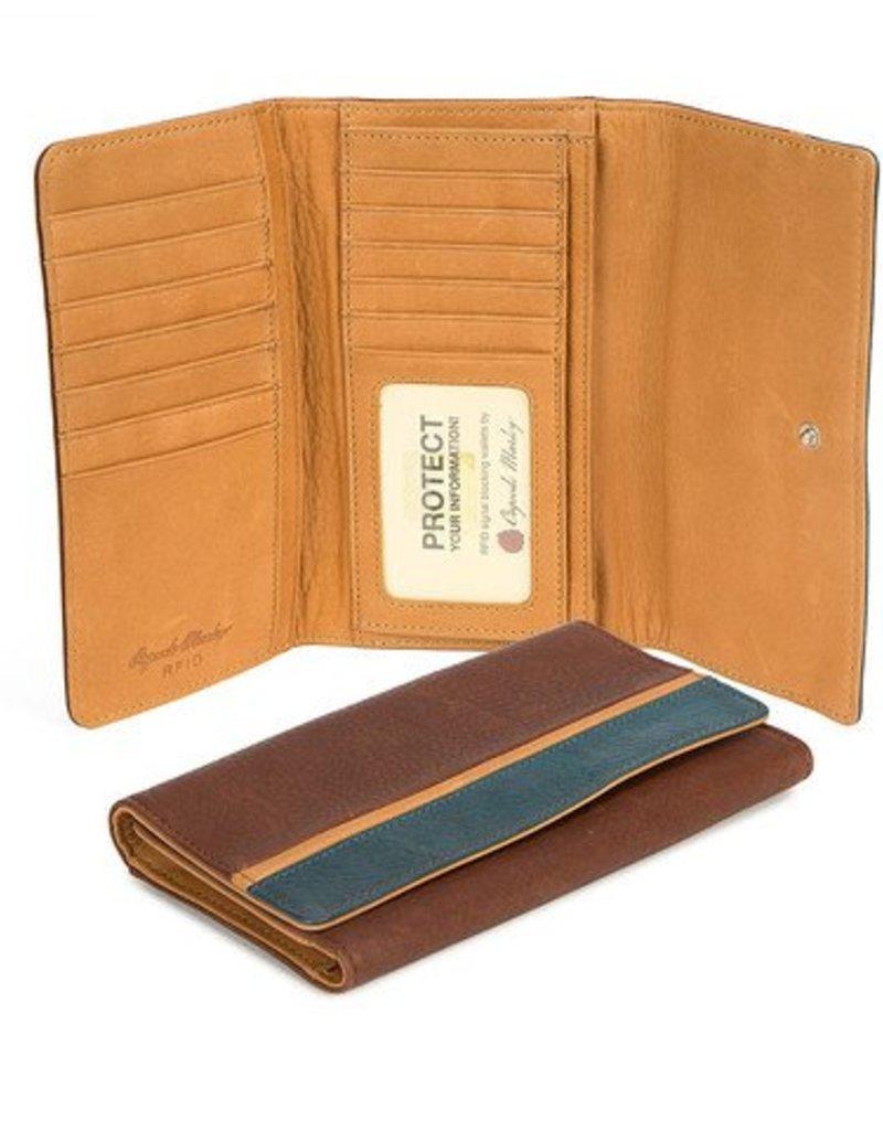 """OSGOODE MARLEY 1404 RFID BRANDY 5""""FLAP WALLET"""
