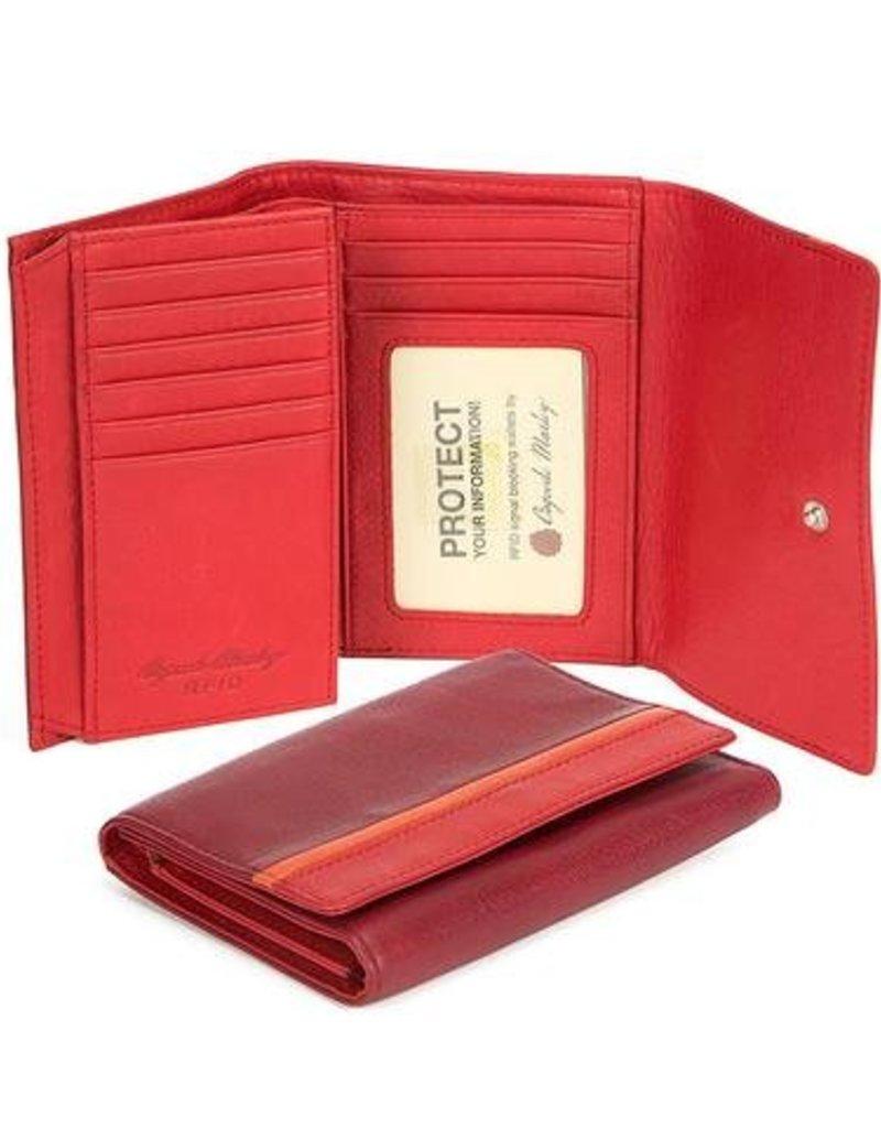 "OSGOODE MARLEY 1404 RFID CHIANTI  5""FLAP WALLET"