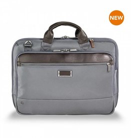 BRIGGS & RILEY KB420-10 GREY SLIM BRIEF