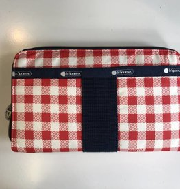 LESPORTSAC 2256 EVERYDAY WALLET GINGHAM CLASSIC RED