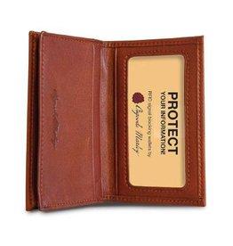 OSGOODE MARLEY 1212 BRANDY RFID GUSSETED CARD CASE
