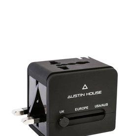 AUSTIN HOUSE AH13UA03 UNIVERSAL ADAPTER PLUG WITH DUAL USB CHARGER