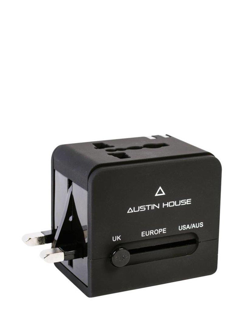 AUSTIN HOUSE AH13UA03 UNIVERSAL ADAPTER PLUG / DUAL USB CHARGER