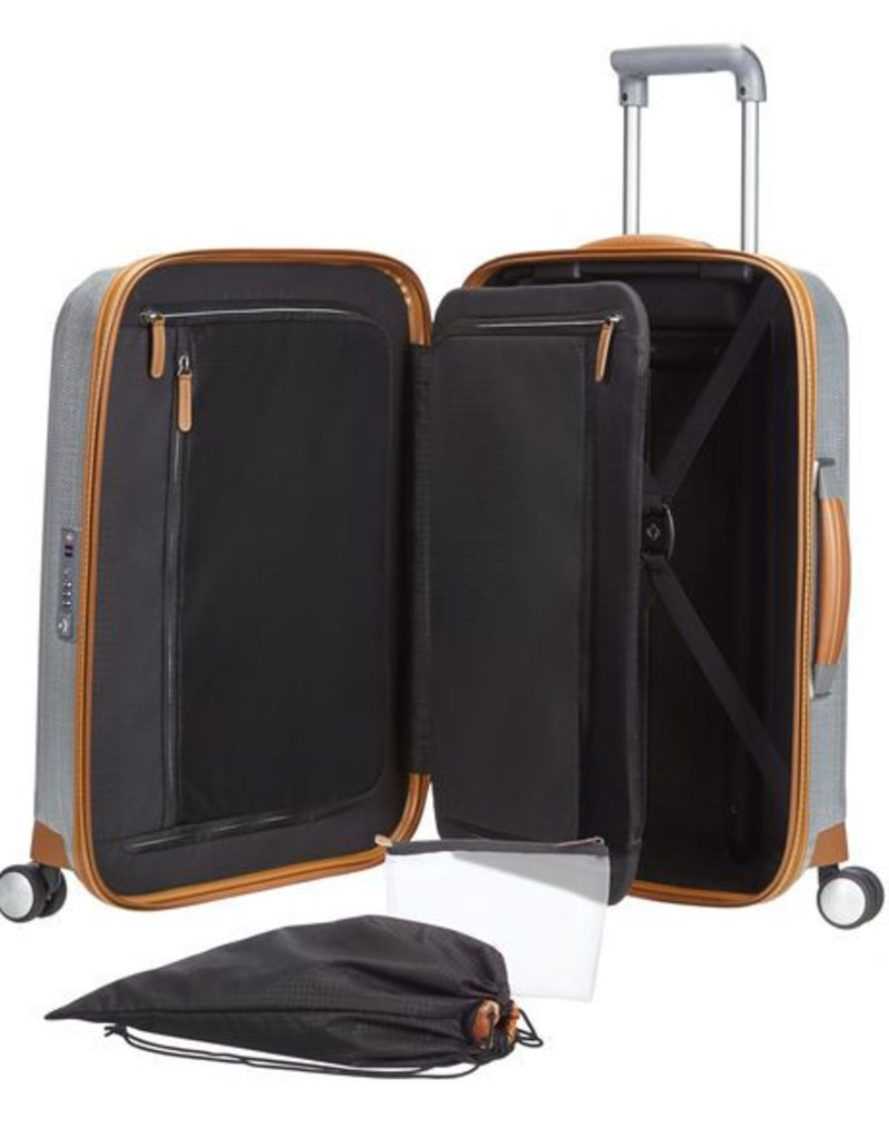 SAMSONITE 802311004 ALUMINUM SPINNER CARRY ON LITE-CUBE