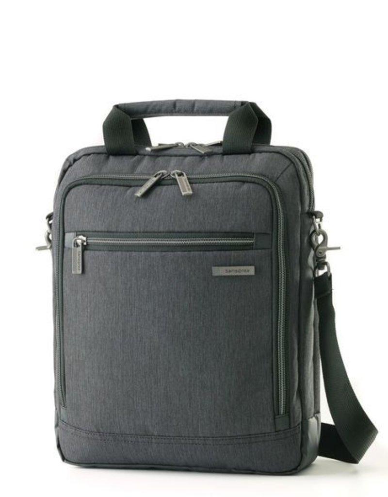 SAMSONITE 895805794 CHARCOAL VERTICAL MESSENGER BAG