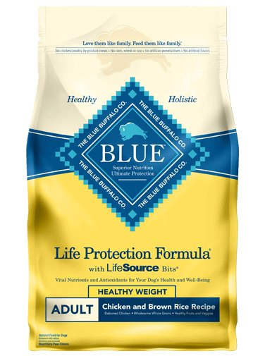 Blue Buffalo Blue Buffalo Chicken & Brown Rice Healthy Weight Adult Dog Food  30 Lb. (Yellow)