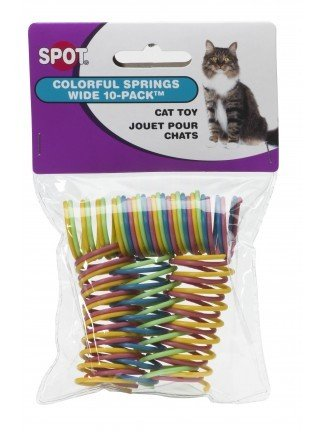 Ethical Pet Products Ethical Pets Colorful Wide Spring Cat Toy 10pk