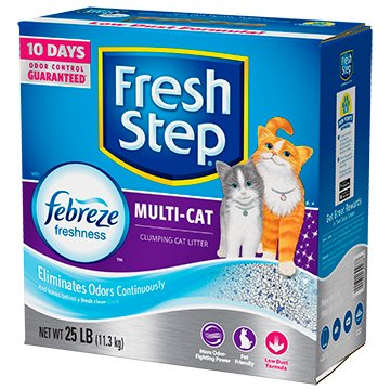 Fresh Step Fresh Step Multi-Cat Scented Scoopable Cat Litter 25 Lb. Box