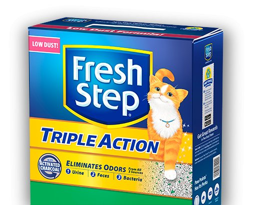 Fresh Step Fresh Step Triple Action Scented Scoopable Cat Litter  25 Lb.