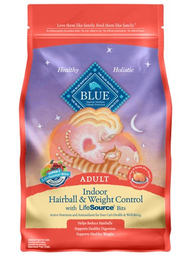 Blue Buffalo Blue Buffalo Adult Cat Indoor Weight Control Hairball Chicken Dry Cat Food 7 Lb.