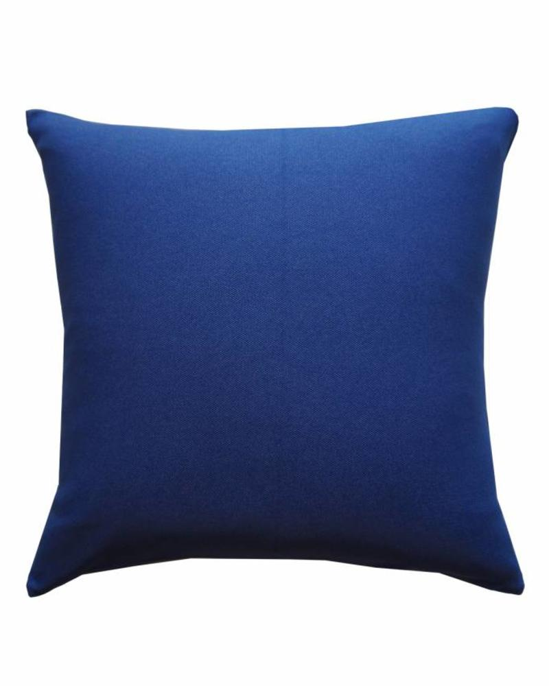"AZTEC PRINT COTTON PILLOW: 22"" X 22"": BLUE"