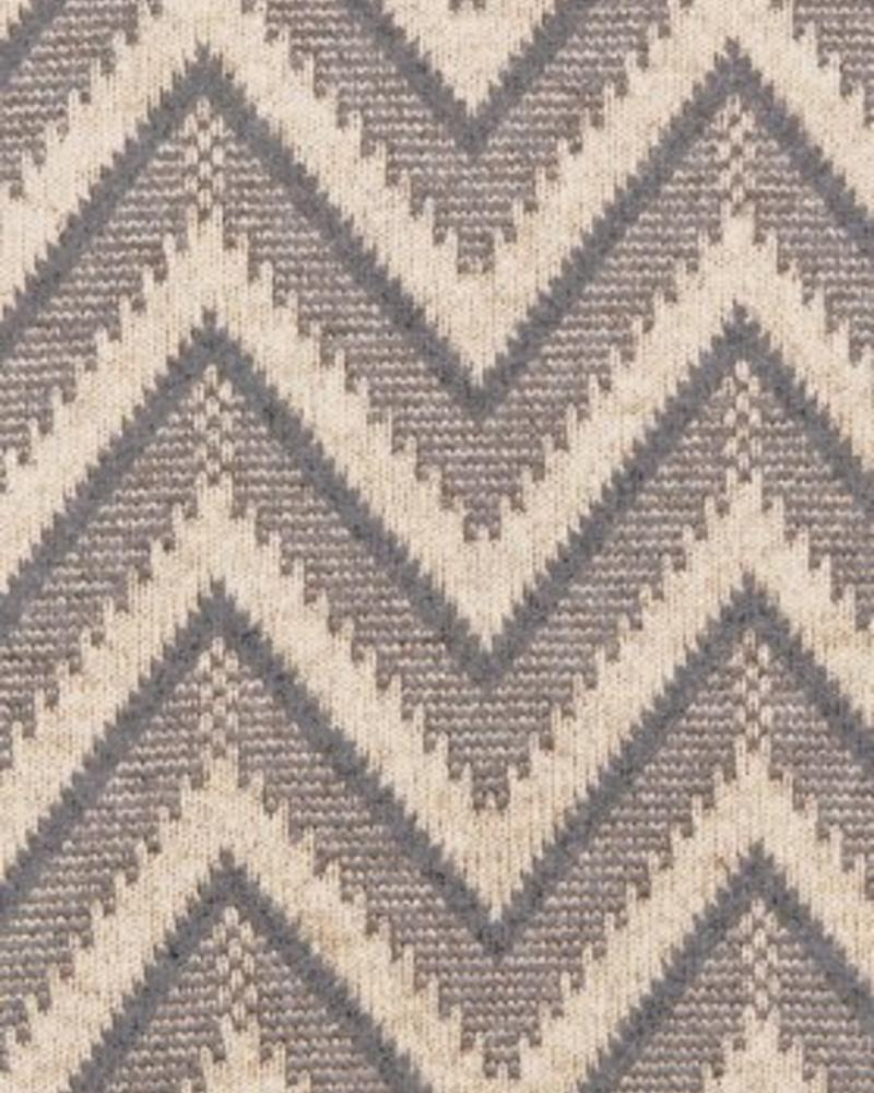 "DILLON MODERN HERRINGBONE THROW: 50"" X 70"": SAND-GRAY"