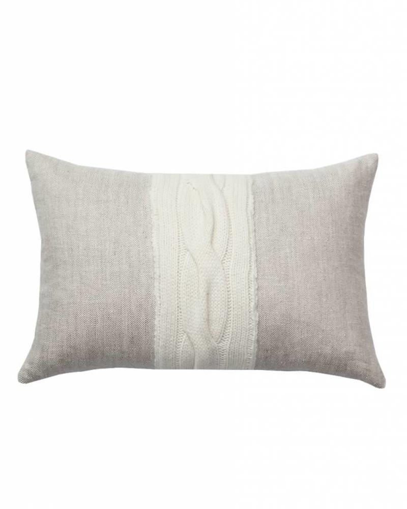 "CLARIDGES PILLOW: 12"" X 18"": BEIGE"