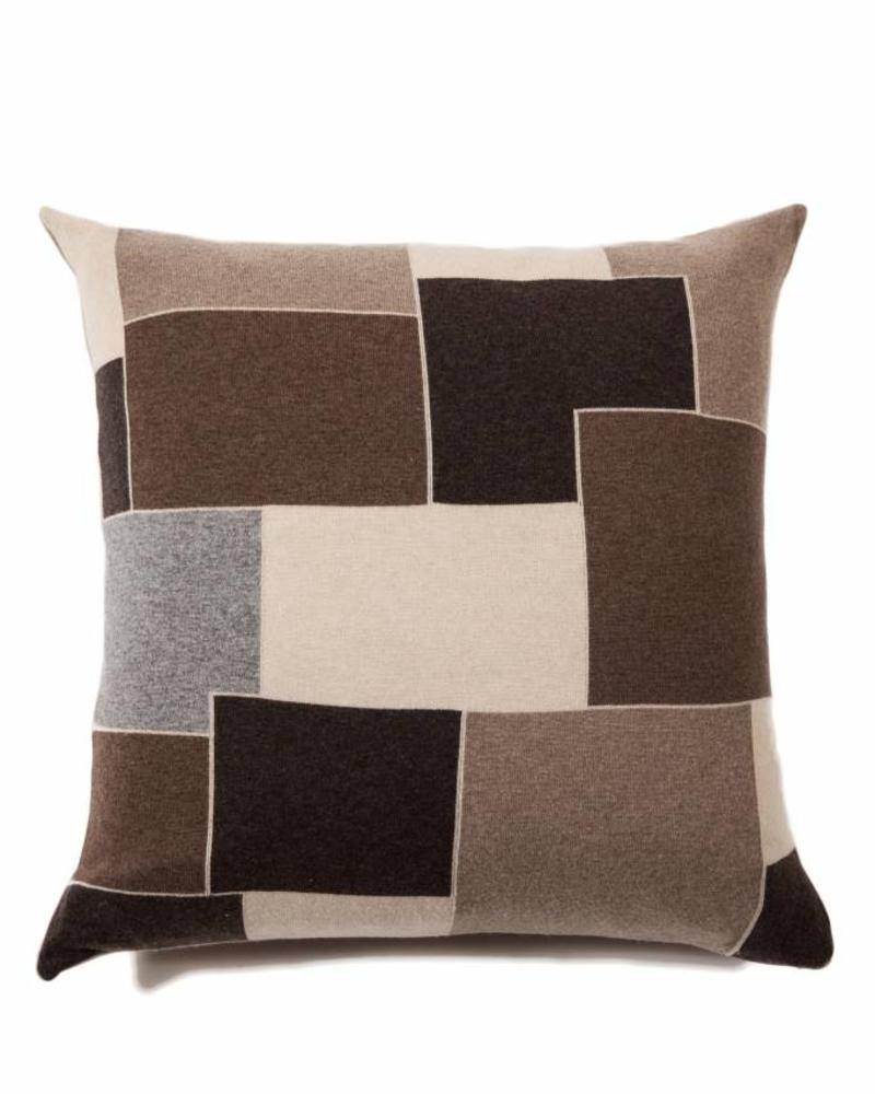 "CASHMERE BLEND GEOMETRIC PILLOW: 24"" X 24"": NEUTRAL TONES"
