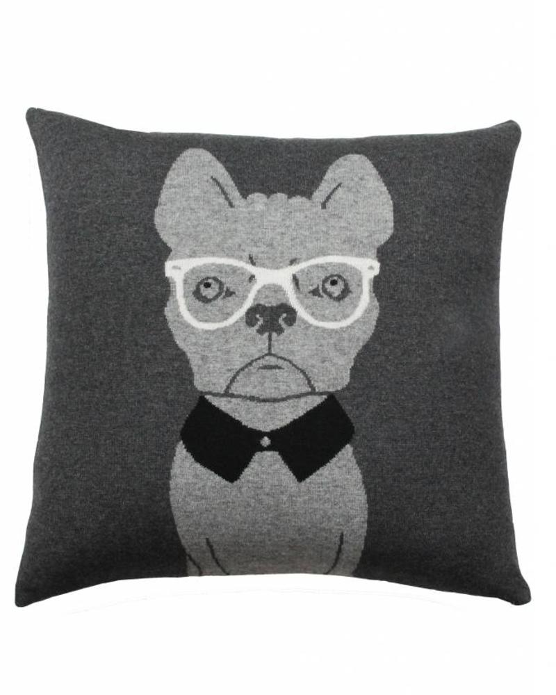 "CASHMERE BLEND DOG PILLOW: 21"" X 21"": ANTHRACITE-GRAY"