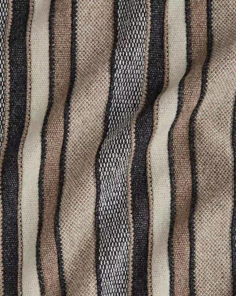 "CASHMERE KENT STRIPE JACQUARD THROW : 50"" X 72"": ANTHRACITE"