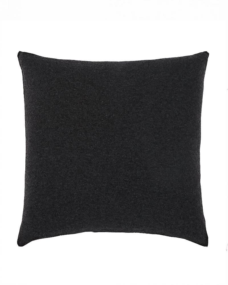 "SEAHORSE CASHMERE-LUREX PILLOW: 21"" X 21"": CHARCOAL-BLACK-LEFT"