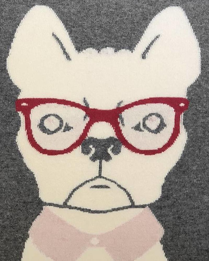 """CASHMERE BLEND DOG PILLOW: 21"""" X 21"""": PINK"""