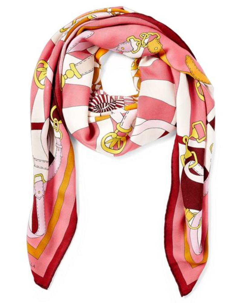 PRINTED CASHMERE SCARF: FIRENZE : RED