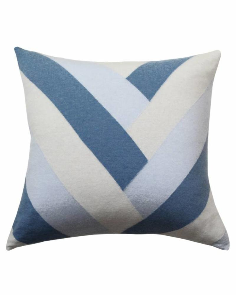 "V PILLOW: 24"" X 24"": LIGHT BLUE"