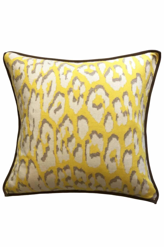 cotton leo knitted x blue leopard arabella rani pillow copy